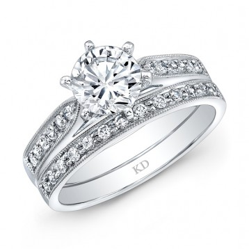 WHITE GOLD CLASSIC DIAMOND ENGAGEMENT SET