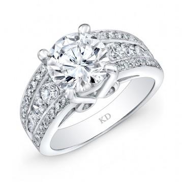 WHITE GOLD INSPIRED VINTAGE DIAMOND ENGAGEMENT RING