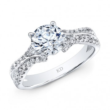 WHITE GOLD ELEGANT DIAMOND ENGAGEMENT RING