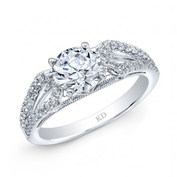 WHITE GOLD CONTEMPORARY DIAMOND BRIDAL RING
