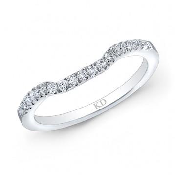 14K SINGLE ROW CLASSIC DIAMOND WEDDING BAND