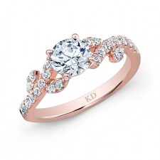 ROSE GOLD INSPIRED VINTAGE DIAMOND ENGAGEMENT RING