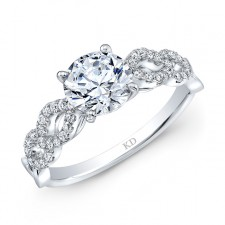 WHITE GOLD INSPIRED CONTEMPORARY DIAMOND ENGAGEMENT RING