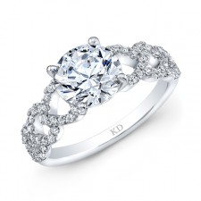 WHITE GOLD INSPIRED FASHION DIAMOND BRIDAL RING