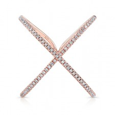 ROSE GOLD INSPIRED INFINITY X DIAMOND RING