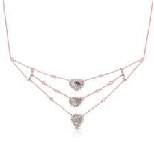 ROSE GOLD CONTEMPORARY ROUGH DIAMOND NECKLACE