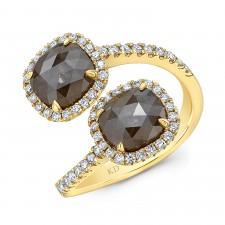 YELLOW GOLD FASHION ROUGH DIAMOND RING