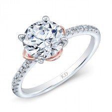 WHITE & ROSE GOLD ELEGANT DIAMOND BRIDAL RING