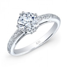 WHITE GOLD CLASSIC PRONG SET DIAMOND BRIDAL RING