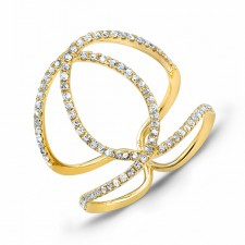 YELLOW GOLD CONTEMPORARY DIAMOND RING
