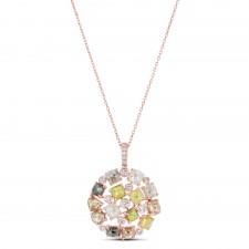 ROSE GOLD DAZZLING ROUGH DIAMOND PENDANT