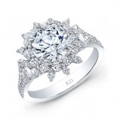 WHITE GOLD DAZZLING FASHION DIAMOND ENGAGEMENT RING