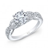 WHITE GOLD INSPIRED TWISTED DIAMOND ENGAGEMENT RING