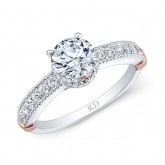 WHITE & ROSE GOLD INSPIRED DIAMOND ENGAGEMENT RING