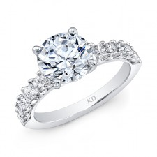 WHITE GOLD INSPIRED CLASSIC DIAMOND ENGAGEMENT RING