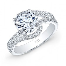 WHITE GOLD CONTEMPORARY DIAMOND ENGAGEMENT RING