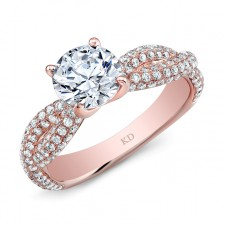 ROSE GOLD CONTEMPORARY DIAMOND ENGAGEMENT RING