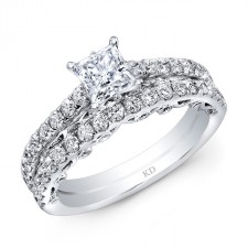 WHITE GOLD INSPIRED CLASSIC DIAMOND WEDDING SET