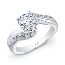 WHITE GOLD INSPIRED SWIRLED DIAMOND ENGAGEMENT  RING