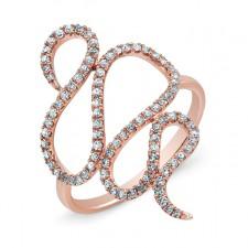 ROSE GOLD INSPIRED SWIRL DIAMOND RING