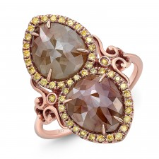 ROSE GOLD CONTEMPORARY ROUGH DIAMOND RING