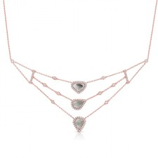 ROSE GOLD CONTEMPORARY ROUGH DIAMOND NECKLACE