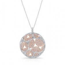 ROSE & WHITE GOLD CONTEMPORARY BLEND DIAMOND PENDANT