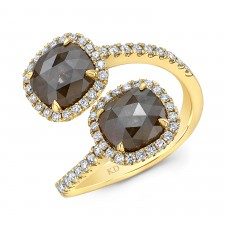YELLOW GOLD FASHION ROUGH DIAMOND RING