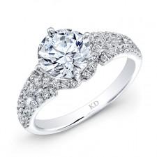 WHITE GOLD SPLIT SHANK DIAMOND ENGAGEMENT RING