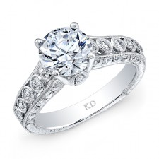 WHITE GOLD ELEGANT DIAMOND BRIDAL RING