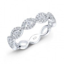 WHITE GOLD TWISTED DIAMOND INFINITY BAND