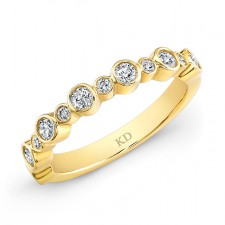 YELLOW GOLD INSPIRED FASHION WHITE DIAMOND BAND