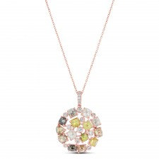ROSE GOLD DAZZLING ROUGH DIAMOND PENDANT