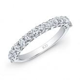 14K SINGLE INSPIRED ROW WEDDING DIAMOND BAND